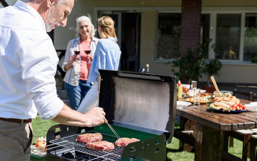 grilling safety means cooking away from the house or any outbuildings