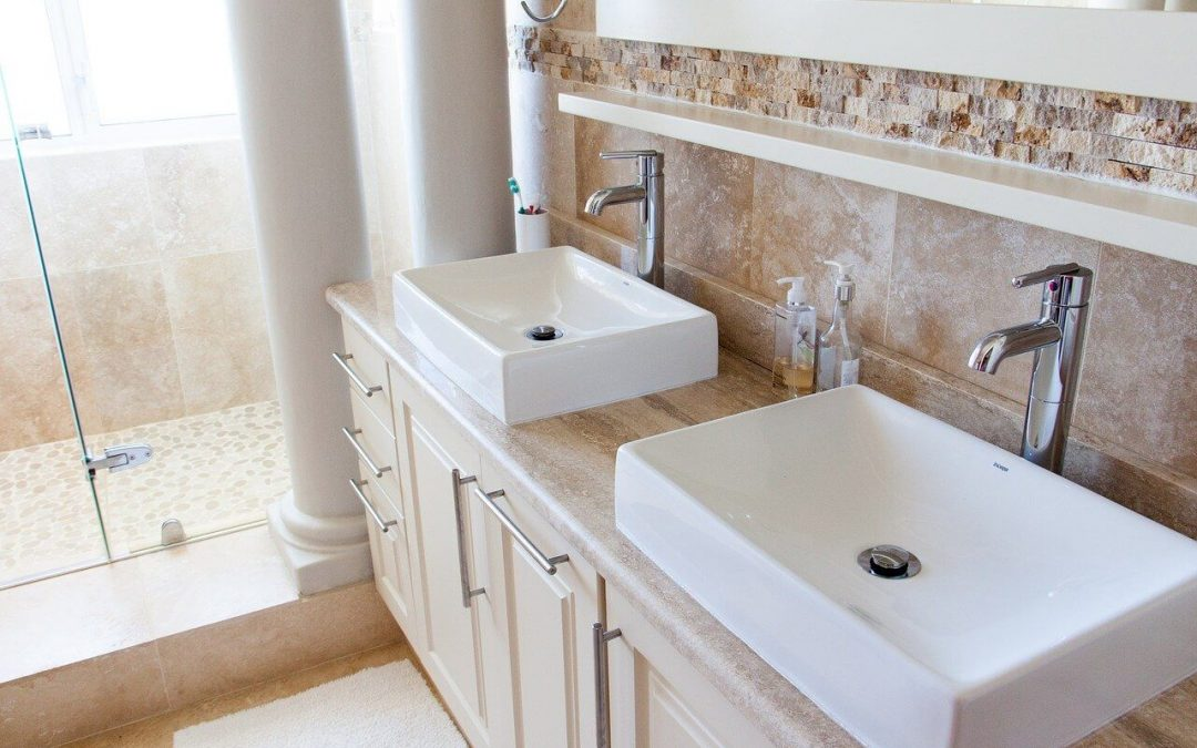 repaint the cabinets as part of your bathroom remodel